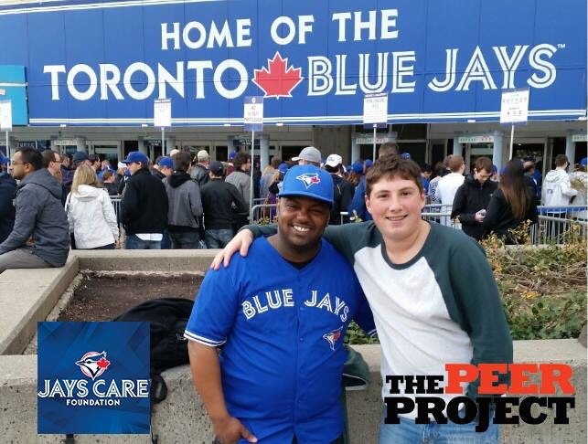 Youth and Mentor at Blue Jays Game