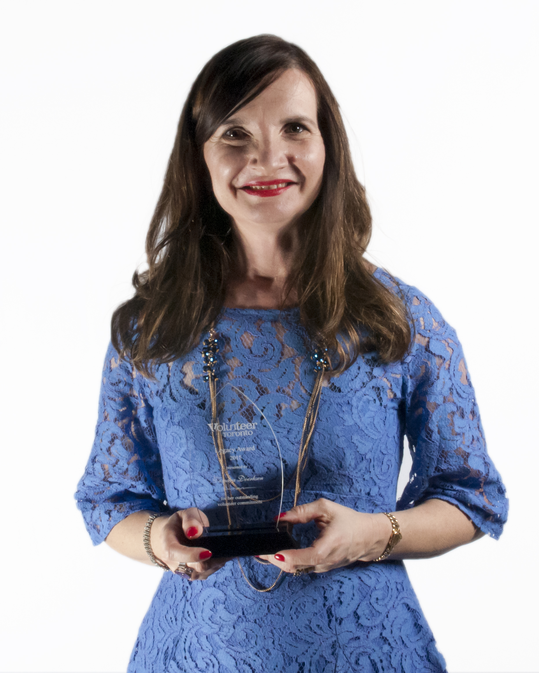 Photo of Tamara Doerksen with Award