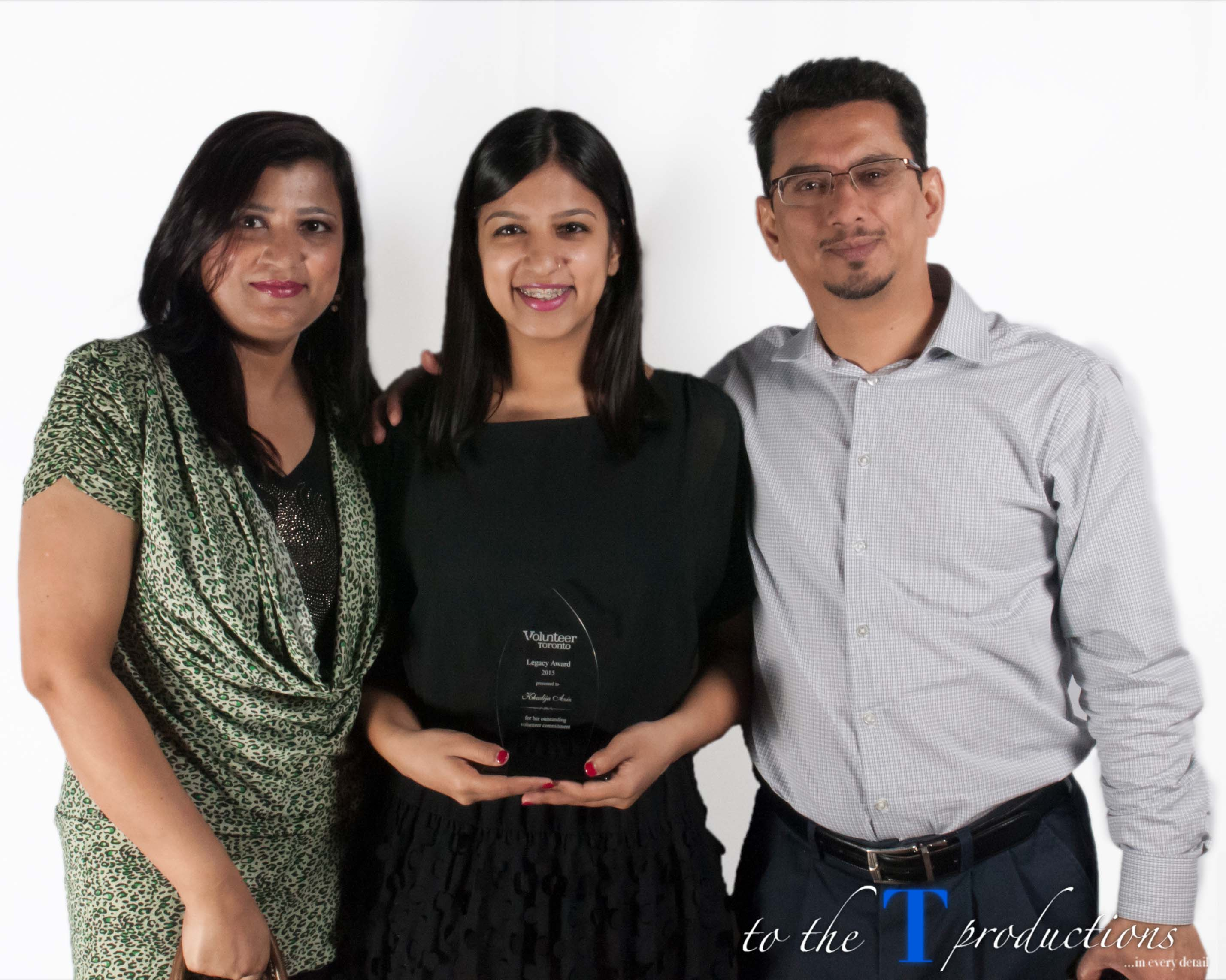 Photo of winner Khadija Aziz and guests