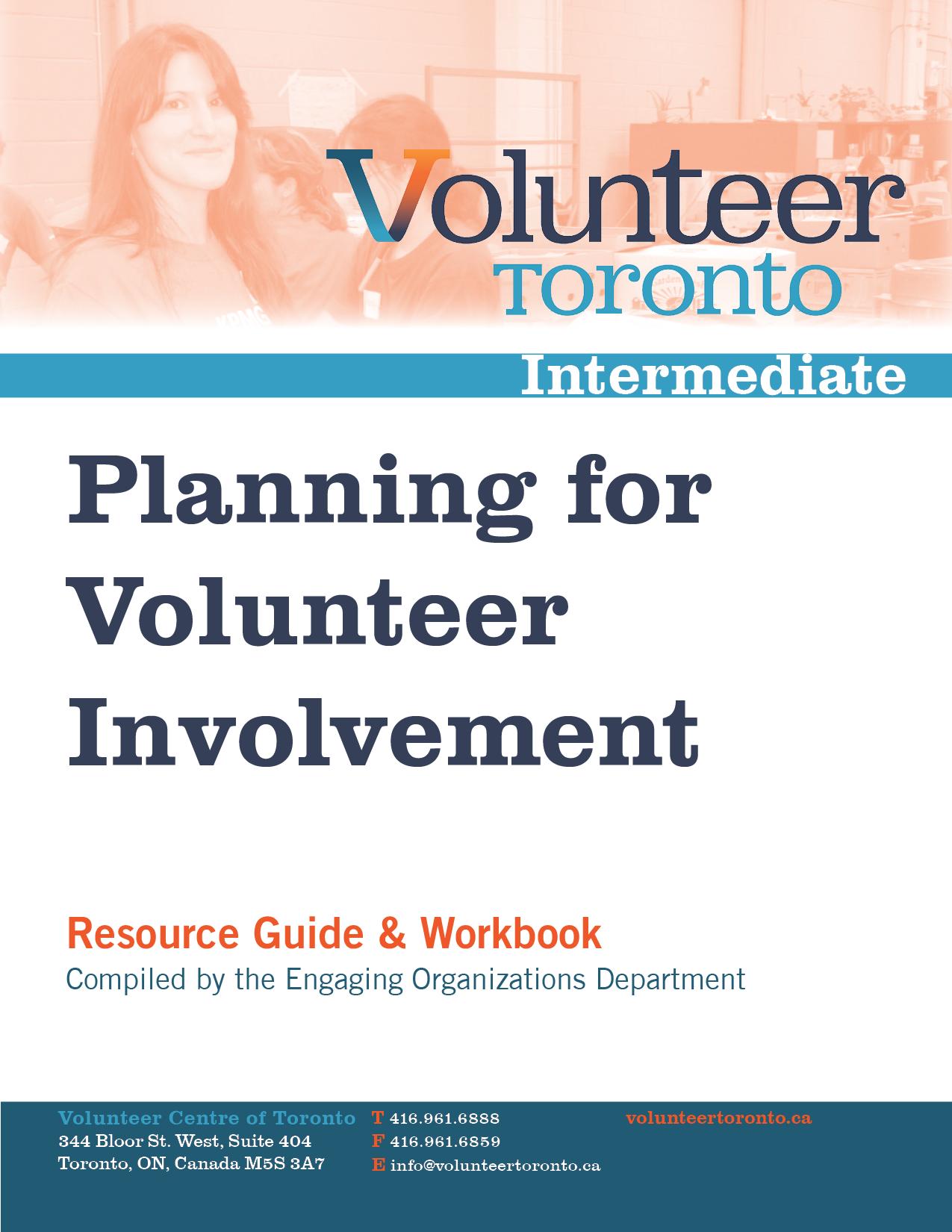 Management resources volunteer toronto planning for volunteer involvement maxwellsz