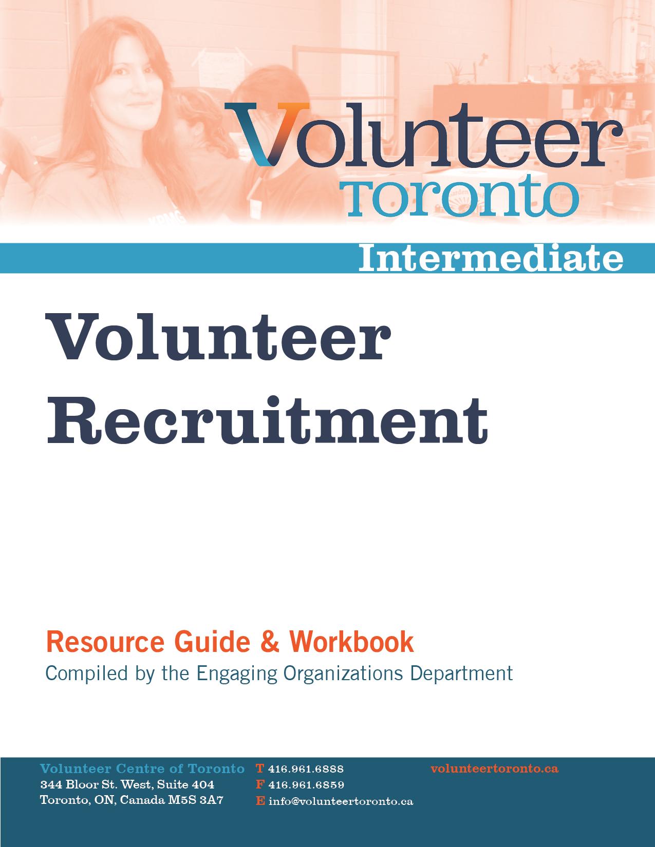 Management Resources - Volunteer Toronto