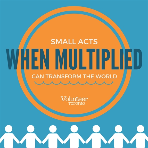 Volunteer Quote - Small acts when multiplied can transform the world