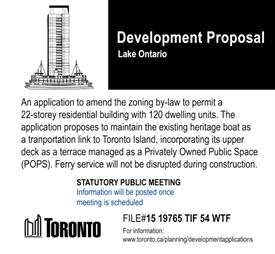 Fake condo proposal for the Toronto Island Ferry