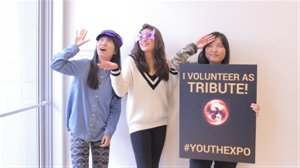 Photo booth at Youth Expo 2015