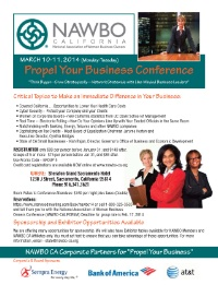 NAWBO California: Critical Topics to Make an Immediate Difference in Your Business