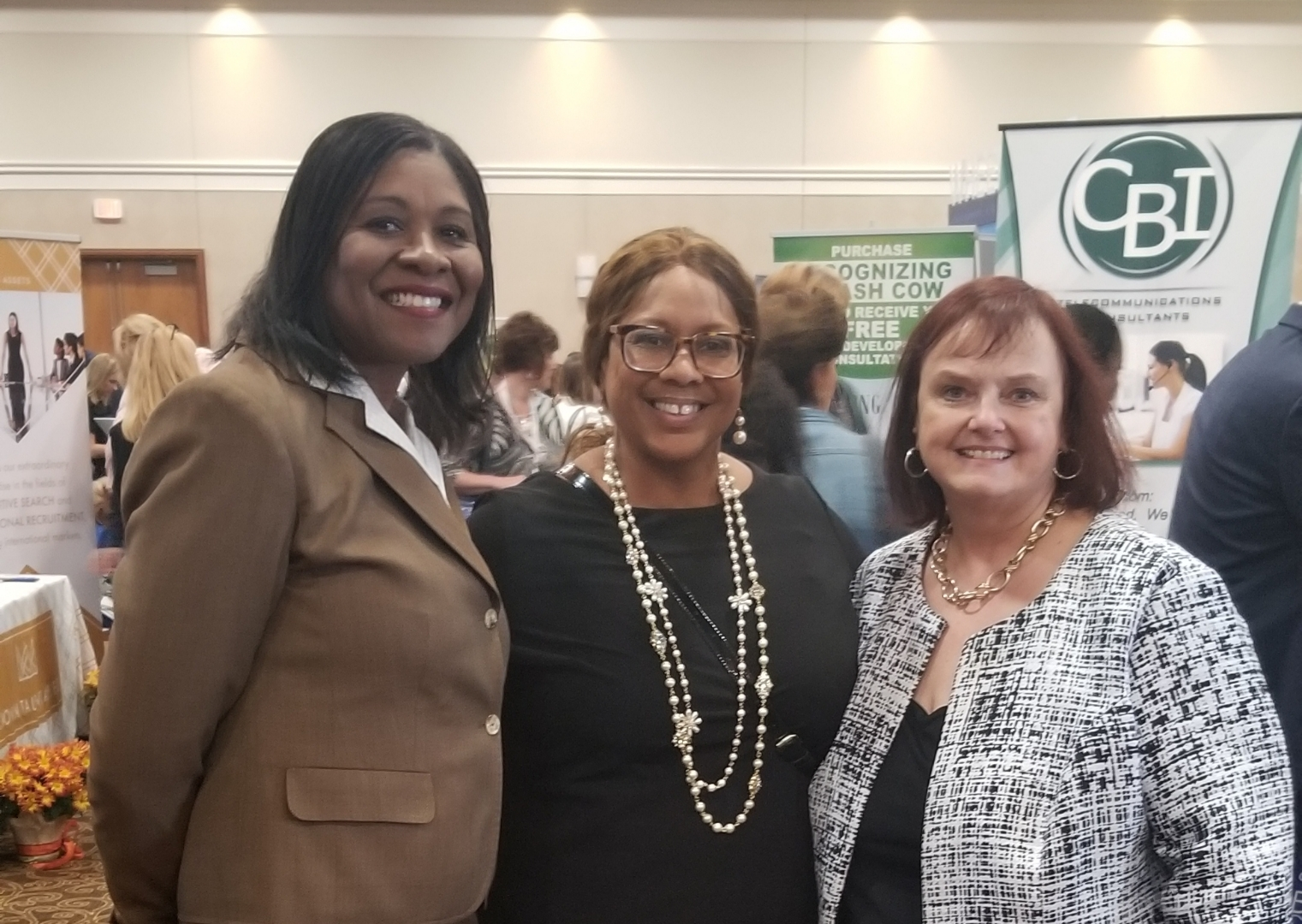Candace Waterman (middle) stands with WBENC RPO leaders Dr. Pamela Williamson (WBEC-West) and Michelle Richards (GLWBC)